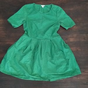Kelly Green Fit and Flair Dress